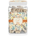 Swirly Floral Dog Treat Jar (Personalized)