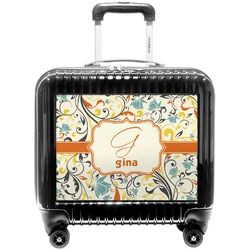 Swirly Floral Pilot / Flight Suitcase (Personalized)