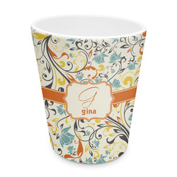 Swirly Floral Plastic Tumbler 6oz (Personalized)
