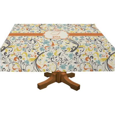 Swirly Floral Tablecloth (Personalized)