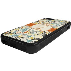 Swirly Floral Rubber iPhone 5C Phone Case (Personalized)