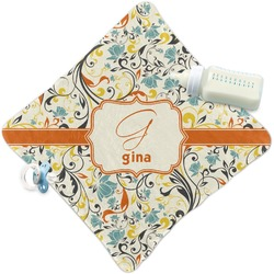 Swirly Floral Security Blanket (Personalized)