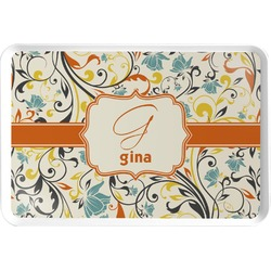 Swirly Floral Serving Tray (Personalized)