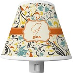 Swirly Floral Shade Night Light (Personalized)