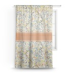 Swirly Floral Sheer Curtains (Personalized)