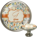 Swirly Floral Cabinet Knobs (Personalized)