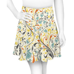 Swirly Floral Skater Skirt (Personalized)