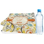 Swirly Floral Sports & Fitness Towel (Personalized)