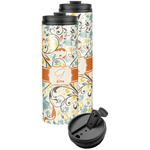 Swirly Floral Stainless Steel Skinny Tumbler (Personalized)