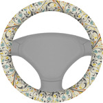 Swirly Floral Steering Wheel Cover (Personalized)