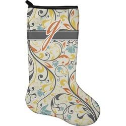 Swirly Floral Christmas Stocking - Neoprene (Personalized)