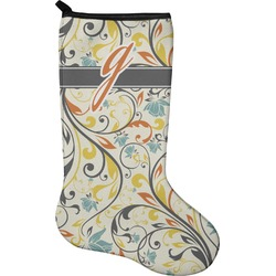 Swirly Floral Christmas Stocking - Neoprene (Personalized)