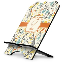 Swirly Floral Stylized Tablet Stand (Personalized)