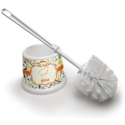 Swirly Floral Toilet Brush (Personalized)