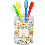 Swirly Floral Toothbrush Holder (Personalized)