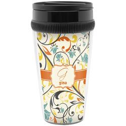 Swirly Floral Travel Mug (Personalized)