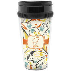 Swirly Floral Travel Mug (Personalized)