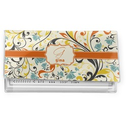 Swirly Floral Vinyl Checkbook Cover (Personalized)