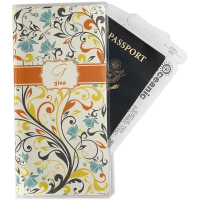 Swirly Floral Travel Document Holder