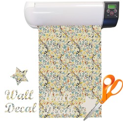 Swirly Floral Vinyl Sheet (Re-position-able)