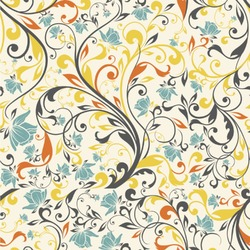 Swirly Floral Wallpaper & Surface Covering