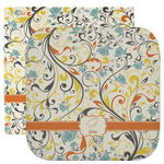 Swirly Floral Facecloth / Wash Cloth (Personalized)