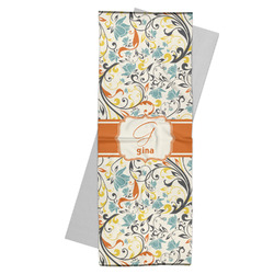 Swirly Floral Yoga Mat Towel (Personalized)