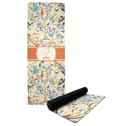 Swirly Floral Yoga Mat (Personalized)