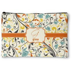 Swirly Floral Zipper Pouch (Personalized)
