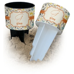 Swirly Floral Beach Spiker Drink Holder (Personalized)