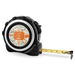 Orange & Blue Leafy Swirls Tape Measure - 16 Ft (Personalized)