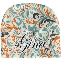 Orange & Blue Leafy Swirls Baby Hat (Beanie) (Personalized)