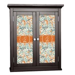 Orange & Blue Leafy Swirls Cabinet Decal - Custom Size (Personalized)