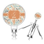 Orange & Blue Leafy Swirls Corkscrew (Personalized)