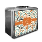 Orange & Blue Leafy Swirls Lunch Box (Personalized)