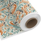 Orange & Blue Leafy Swirls Custom Fabric by the Yard (Personalized)