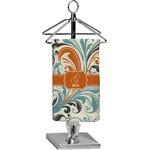 Orange & Blue Leafy Swirls Finger Tip Towel - Full Print (Personalized)