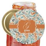 Orange & Blue Leafy Swirls Jar Opener (Personalized)