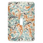 Orange & Blue Leafy Swirls Light Switch Covers (Personalized)
