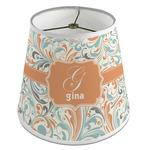 Orange & Blue Leafy Swirls Empire Lamp Shade (Personalized)