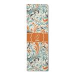 Orange & Blue Leafy Swirls Runner Rug - 3.66'x8' (Personalized)