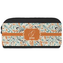 Orange & Blue Leafy Swirls Shoe Bag (Personalized)