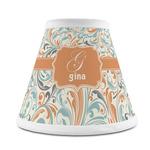 Orange & Blue Leafy Swirls Chandelier Lamp Shade (Personalized)