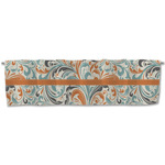 Orange & Blue Leafy Swirls Valance (Personalized)