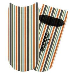Orange & Blue Stripes Adult Ankle Socks (Personalized)