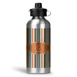 Orange & Blue Stripes Water Bottle - Aluminum - 20 oz (Personalized)
