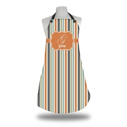 Orange & Blue Stripes Apron (Personalized)