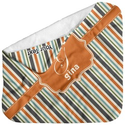 Orange & Blue Stripes Baby Hooded Towel (Personalized)