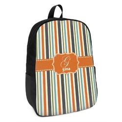 Orange & Blue Stripes Kids Backpack (Personalized)