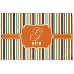 Orange & Blue Stripes Woven Mat (Personalized)